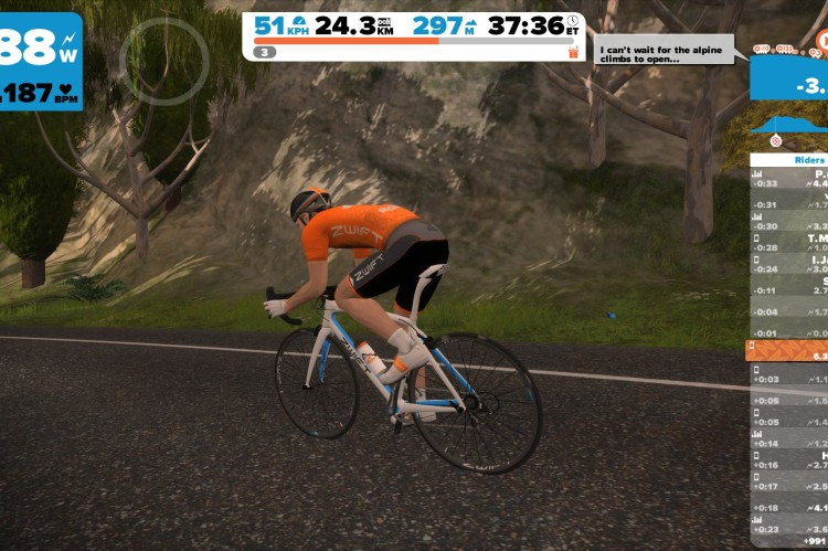 Orange GC jersey in Zwift
